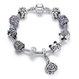 classic-flower-pendant-charms-bracelet