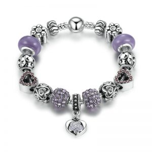 elegant-purple-heart-pendant-charms-bracelet