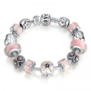 salmon-pink-lotus-charms-bracelet