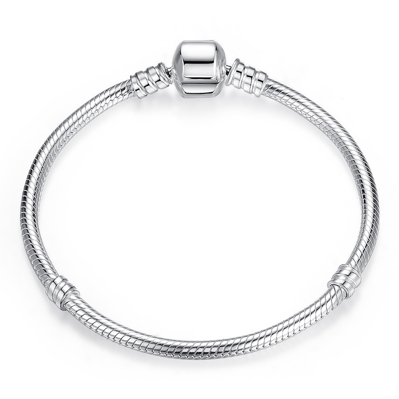 Classic Silver Bracelet with barrel clasp