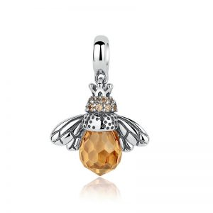 Orange Queen Bee Pendant