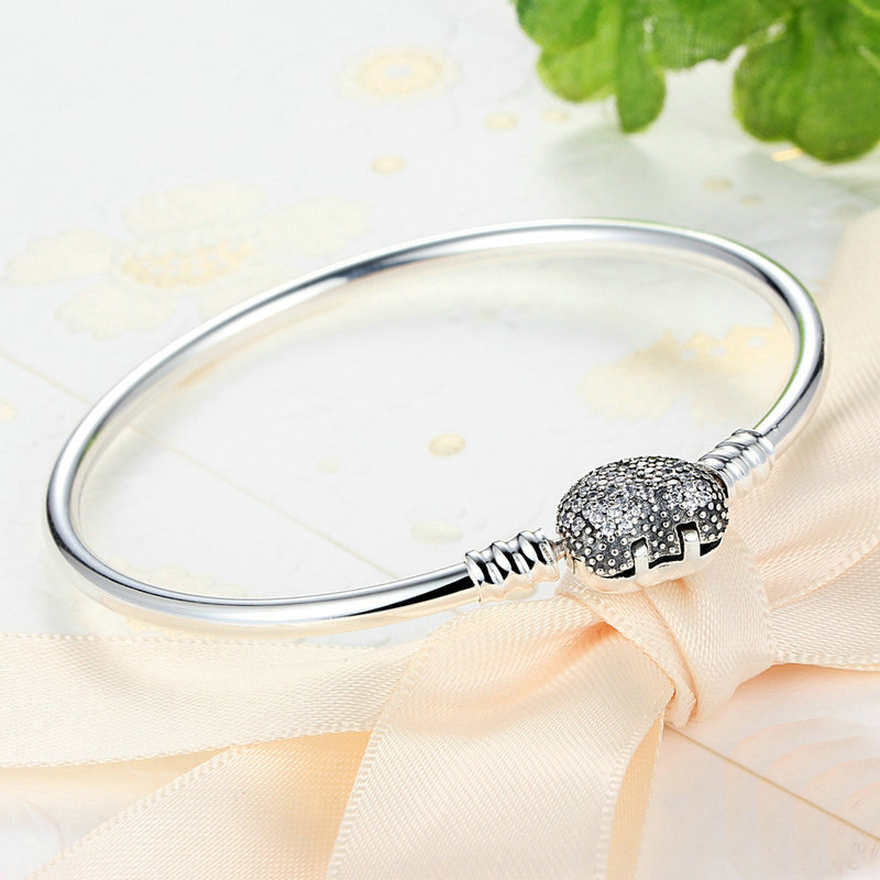 bangles chain pandora with sterling bracelet products authentic clasp xingjewelry silver basic bangle snake heart
