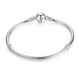 Silver Bracelet Sparkling Mickey Clasp