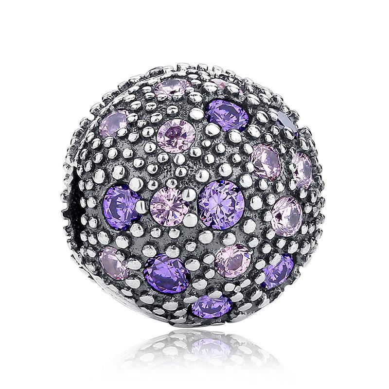 Fancy Purple Cosmic Stars Clip