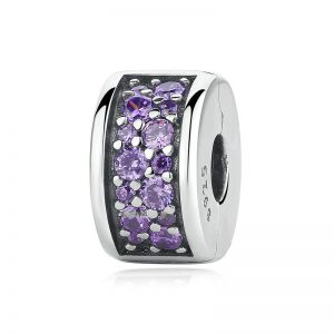 Fancy Purple Shining Elegance Spacer Clip