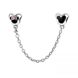Mickey & Minnie Hearts Safety Chain