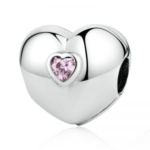 Pink Steady Heart Clip