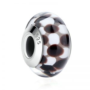 Brown Pattern Murano Charm