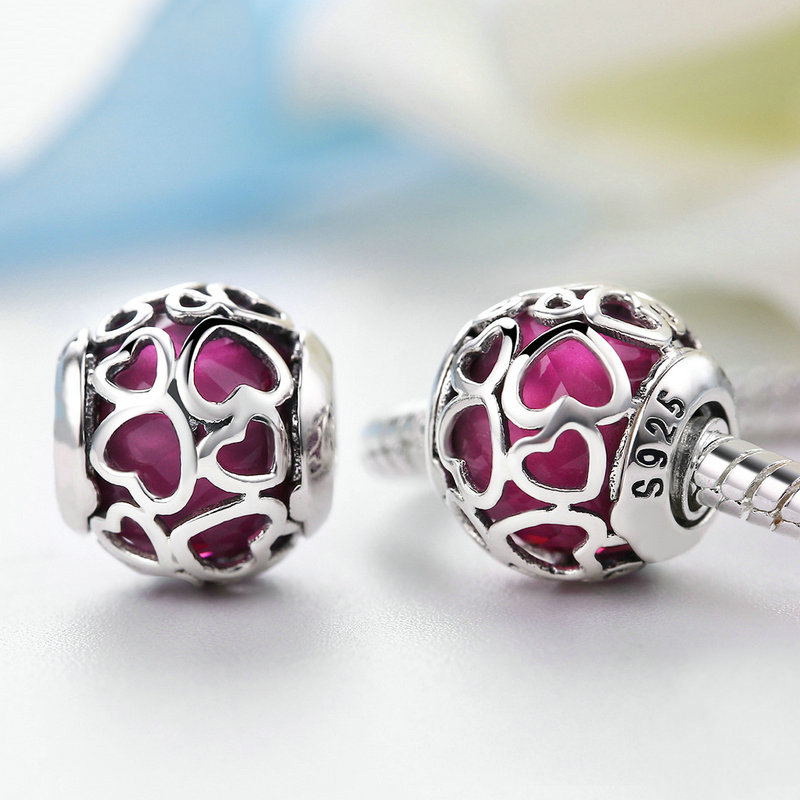 Cerise Encased Love Charm