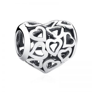 Love Shower Openwork Heart Charm