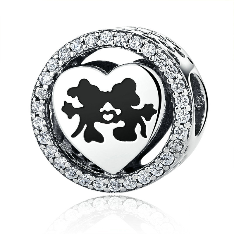 Mickey & Minnie Love Charm