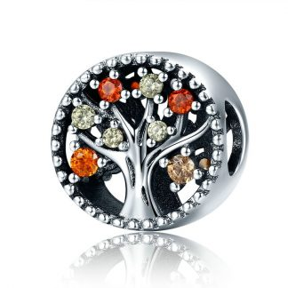 Autumn Tree of Life Charm