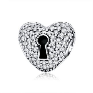 Dazzling Heart Locked Clip