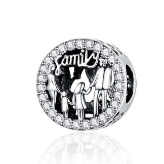 Family Silhouette Charm