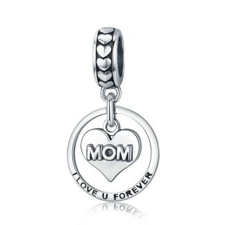 Mom I Love U Forever Pendant