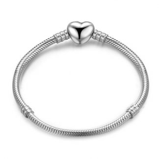 Moments Heart Clasp Snake Chain Bracelet