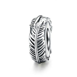 Silver Feather Spacer
