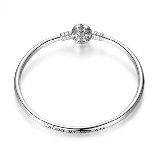 Unique Snowflake Moments Silver Bangle